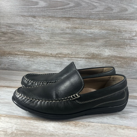 Ecco Classic Black Leather Loafers Eu 44